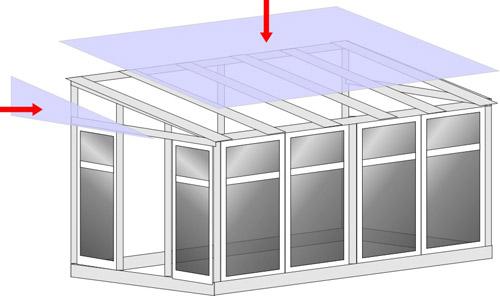 План теплицы из пластиковых дверей